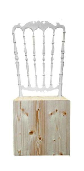 chaise-cube en bois
