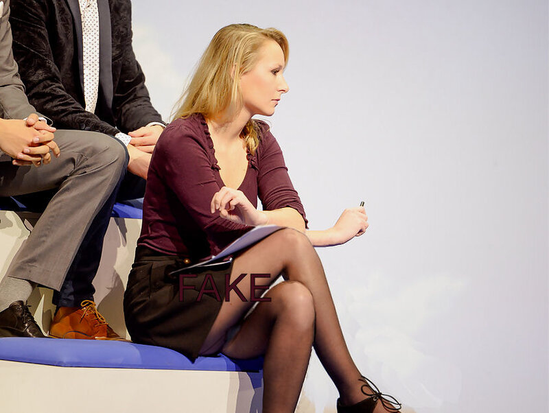 Marion Maréchal-Le Pen, culotte, cuisses,collants