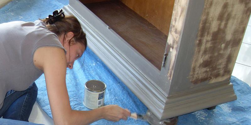 Envie de patiner un vieux meuble au fil des jours for Patiner un meuble en gris