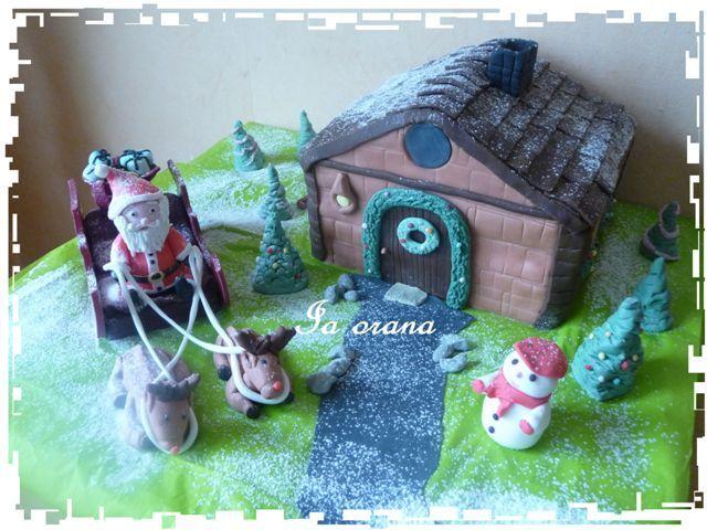 Paysage de Noël/Scenery christmas cake