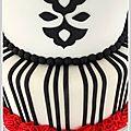 Wedding cake nina couto noir et rouge details