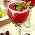 Le cocktail du jour: cherry mint margaritas