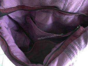 sac violet intérieur