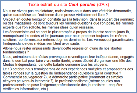 medias cent paroles