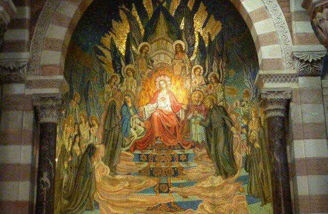 mosaique-chapelle-de-la-colombiere paray le Monial