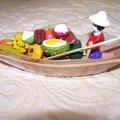 barque du marché flottant