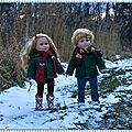 Les jumeaux : les petits chaperons verts - the twins: little green chaperones