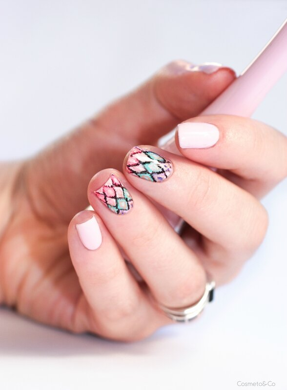 nail art ikat inspiration victoria's secret
