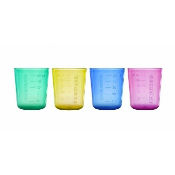 Lot-de-4-mini-tasses-multicolore---Babycup