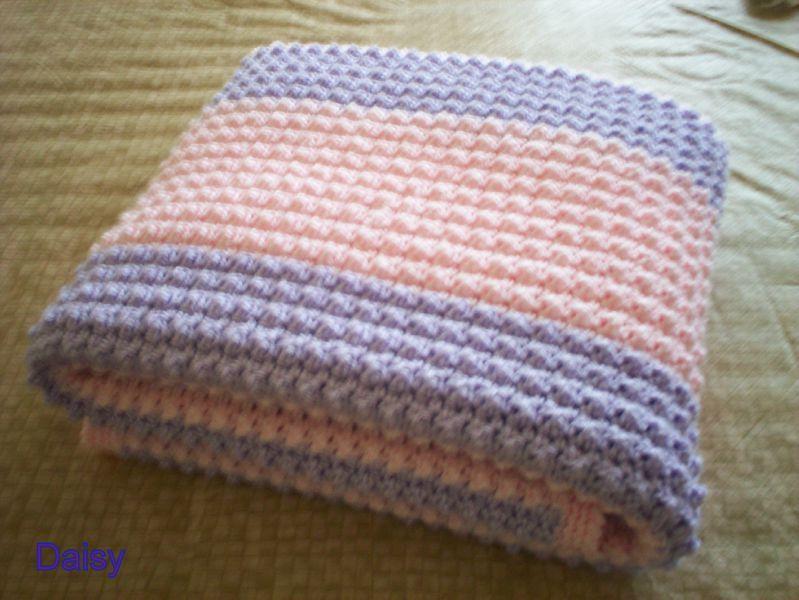 Patron tricot couverture bebe crochet - Tuto tricot debutant gratuit ...