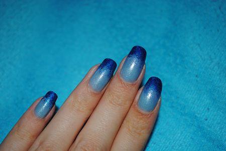dégradé éponge bleu