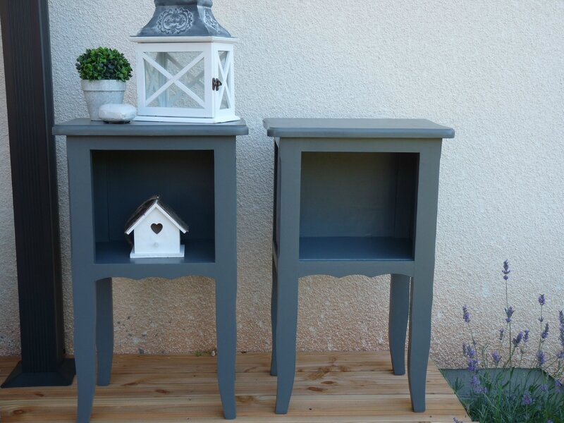tables de chevet gris anthracite