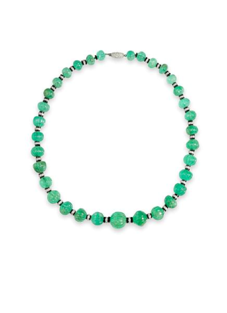 An_art_deco_emerald_bead__onyx_and_diamond_necklace__Cartier2