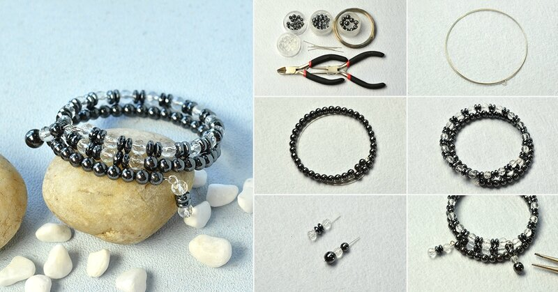 1200-How-to-Make-Cool-Black-Hematite-and-Clear-Glass-Beads-Bracelet