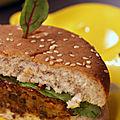 Le burger de lentilles vertes du puy aoc, juste bluffant ! {végétarien, dès 2 ans}