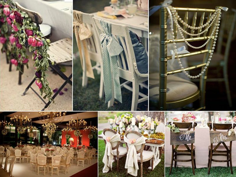d coration des chaises pour votre mariage rose fantaisie wedding planner wedding d co. Black Bedroom Furniture Sets. Home Design Ideas