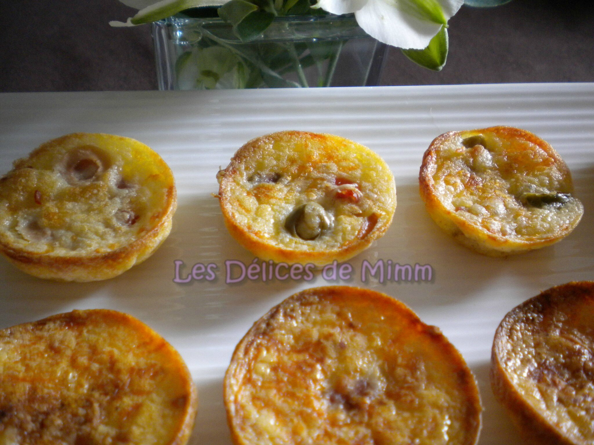 mini quiches pour l ap ro les d lices de mimm. Black Bedroom Furniture Sets. Home Design Ideas