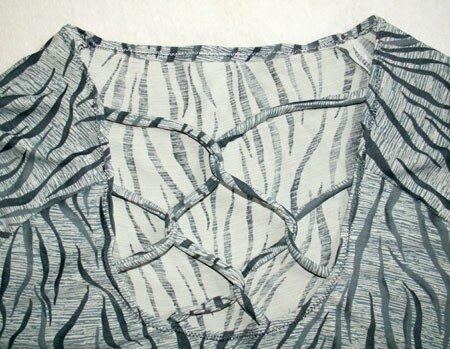 T-shirt zèbre lacé (détail)