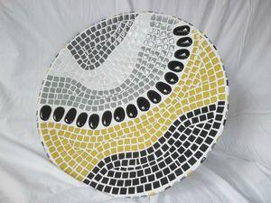 Plateau mosaïque Christine Jagu