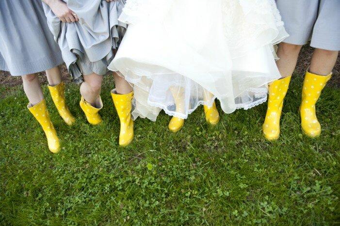 rock bottes de pluie pour mariage