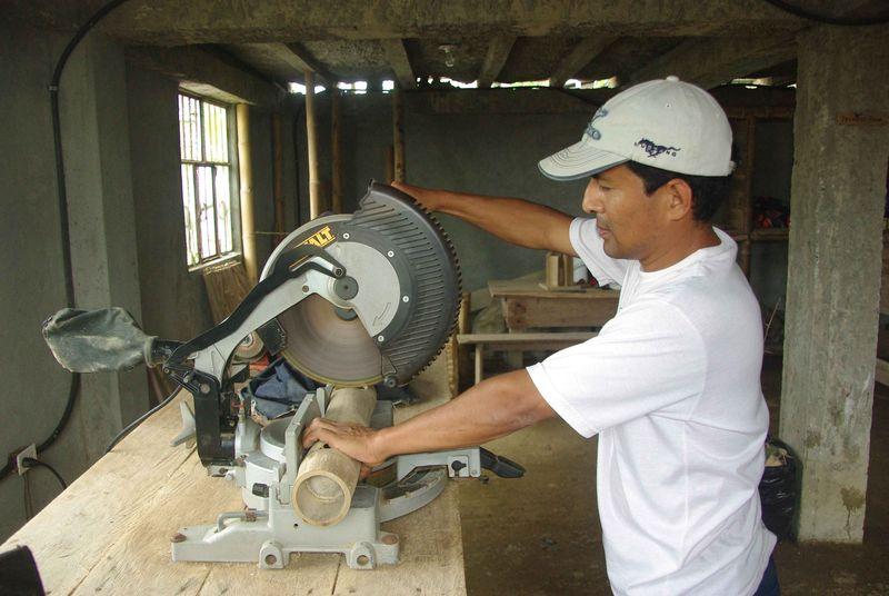 Atelier d'artisanat de bambou