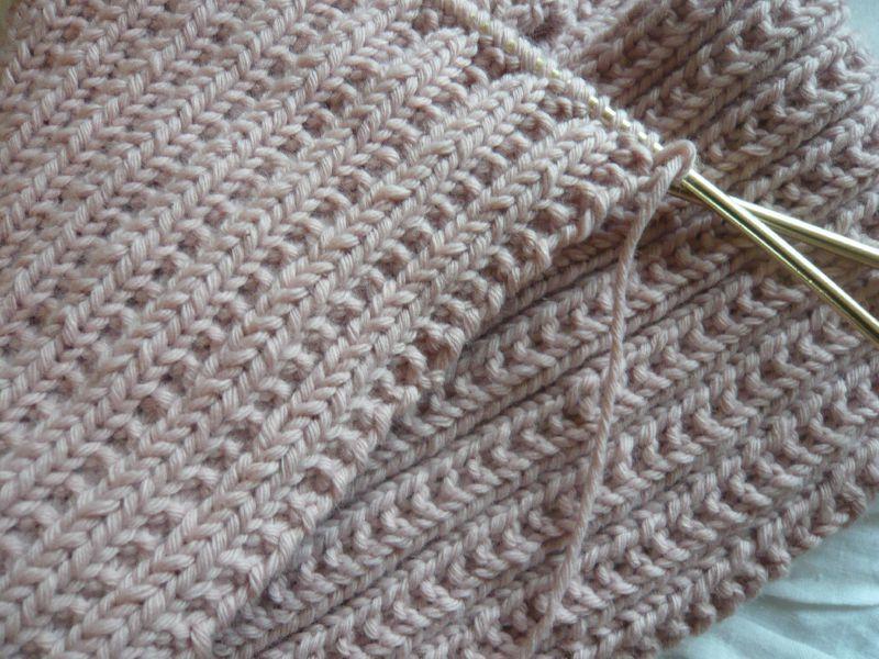 Comment tricoter en cote perlee - Point de cote tricot ...