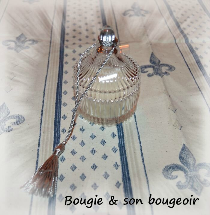 bougie & son bougeoir