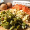 Tarte ricotta, tomate, poivron