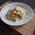 Spagetti aux coquille st jacques