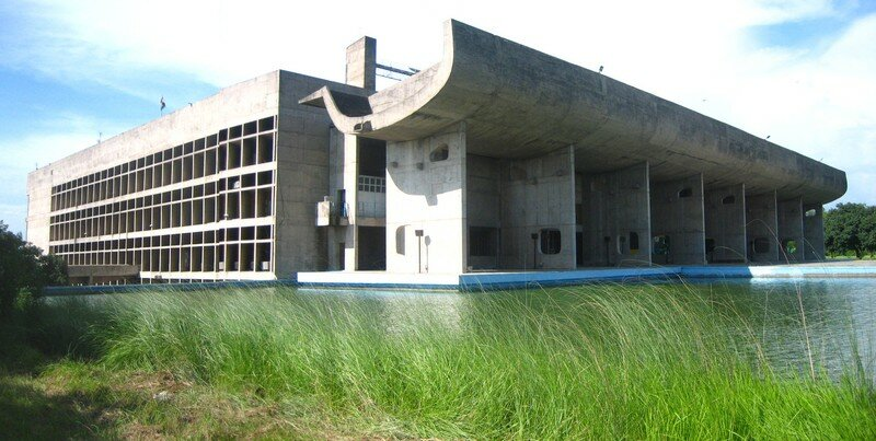 Chandigarh haute cour de justice le corbusier 1955 india for Haute justice
