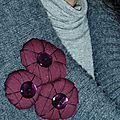Fleurs dodues en tissu