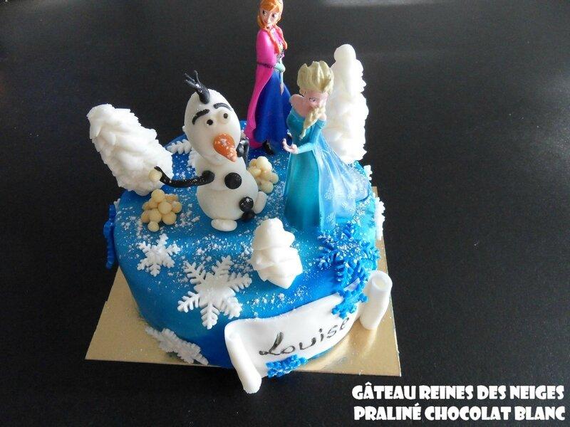 Gâteau reines des neiges pralné chocolat blanc