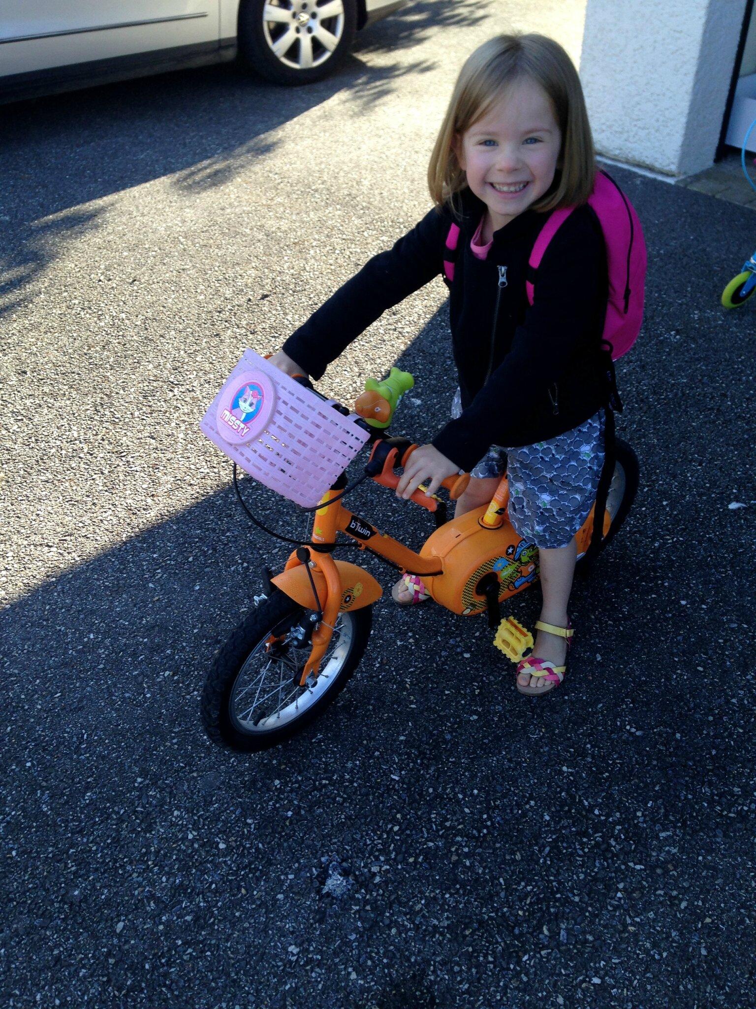 Parfait pour aller à l'école en vélo toute seule !