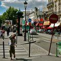 Sur le Boulevard de Rochechouart.