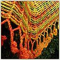 Sprout chains shawlette de kristin omdahl pour le défi 9