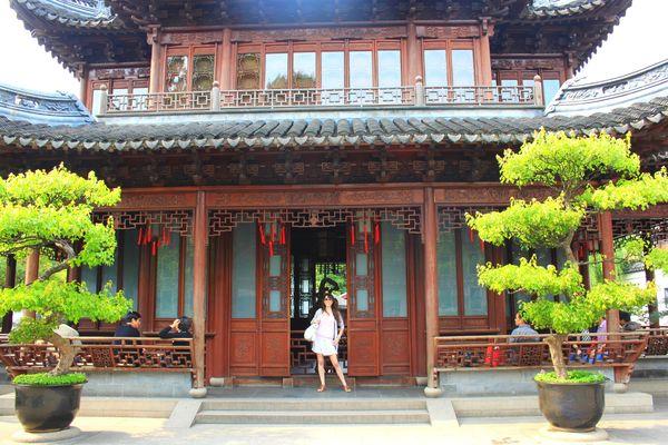Moi au Yu Yuan (Yu Garden ou Jardin Zen) (4)