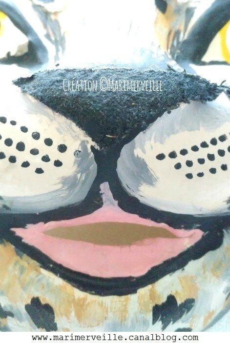 Détail 2 masque panthère création marimerveille