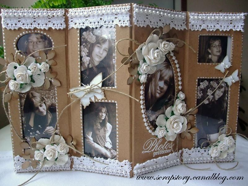 cadre multi photos en carton scrap story. Black Bedroom Furniture Sets. Home Design Ideas