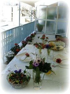 terrasse printemps table