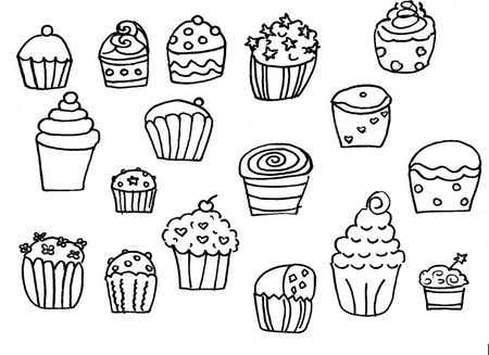 cupcakes coloriage