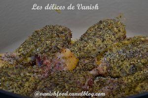 Pilon de poulet-2 moutardes-herbes de provence