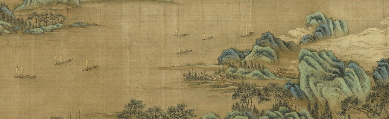 After Qiu Ying (1494-1552) and Wen Zhengming, River landscape in blue-green style