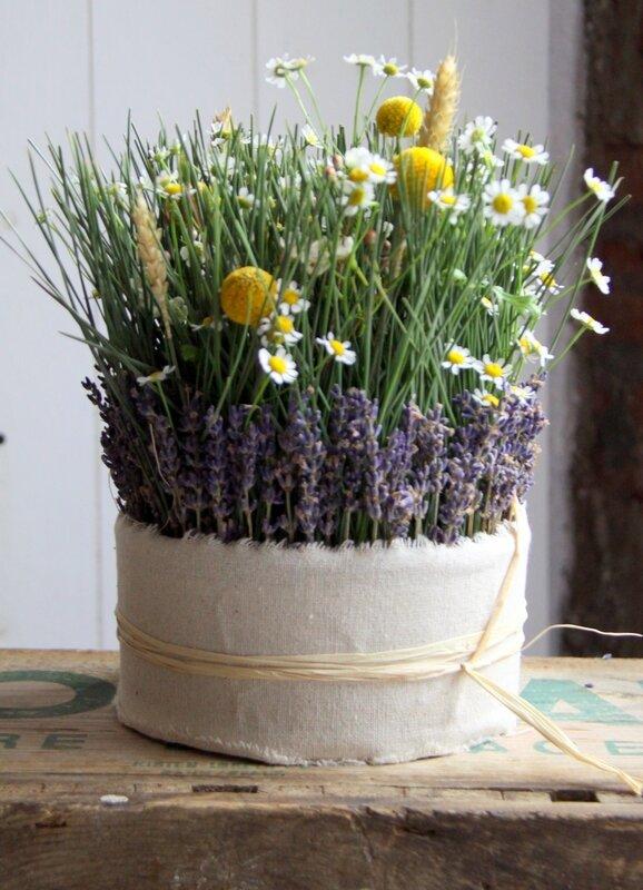 Mariage - Centre de table champêtre - création EstelleG pour La Saladelle - Atelier floral Perpignan et Pyrénées-Orientales 05
