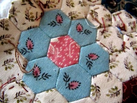 MINI QUILT HEXAGONES 003