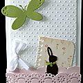 Un lift ... une envie de printemps ... un petit lapin en chocolat ... une carte pour pâques !