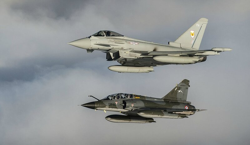RAF_Typhoon_and_French_Mirage_Flying_together_MOD_45156234