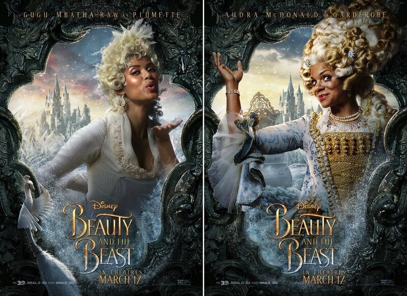 Gugu Mbatha-Raw_Plumette and Audra McDonald_Garderobe_Beauty and The Beast