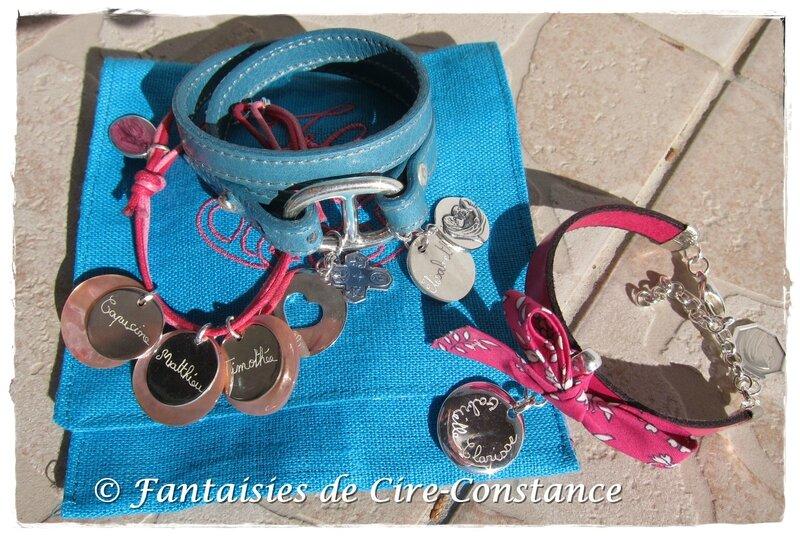 Bracelet Diane et coton ciré argent Belle Ile argent-1