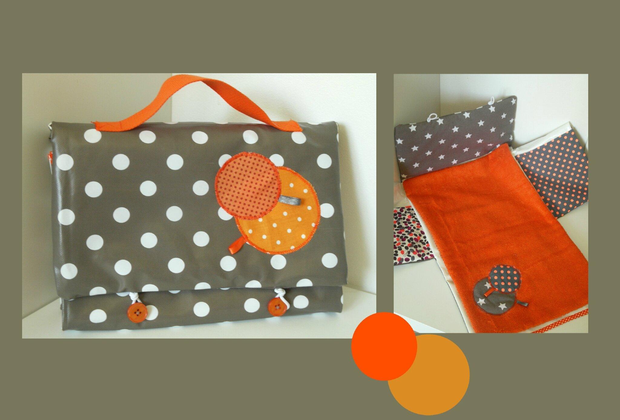 tapis langer nomade taupe et orange photo de. Black Bedroom Furniture Sets. Home Design Ideas