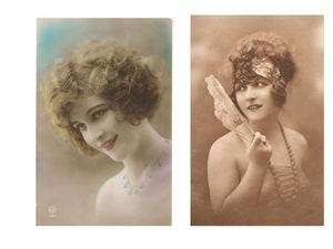 Jeunes femmes années 30 vintage